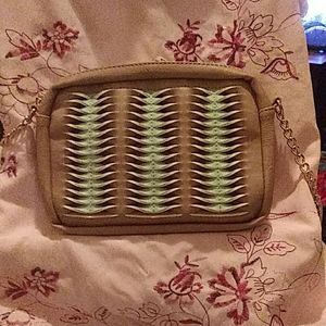 Med size, baige and mint green bag